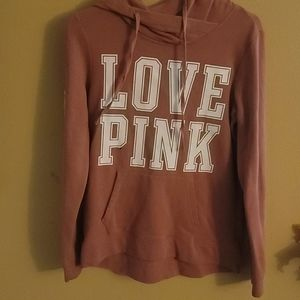 Pink hooded sweat shirt
